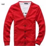 เสื้อกันหนาวผู้ชาย เสื้อใส่คลุมในออฟฟิต เสื้อคลุมแขนยาว ไหมพรม สำหรับผู้ชาย สวยเรียบ มีสไตล์ ใส่ได้ทุกวัน สีแดง no 603068_6