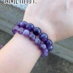 ข้อมือหินอเมทิสต์,Amethyst bracelet.
