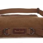 กระเป๋าคาดอก ผู้ชาย ผู้หญิง ใช้ได้ กระเป๋าสะพาย ข้างผ้าแคนวาส ดีไซน์ เป็น ทรงกระบอก แบบเก๋ ๆ สีน้ำตาล สีดำ ปรับเป็น กระเป๋าคาดเอว 9005157