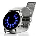 นาฬิกาข้อมือ นวัตกรรมใหม่จากญี่ปุ่น ไฟ Led ทั้งหน้าจอ สีน้ำเงิน