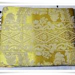 ผ้าคลุมที่นอน ผ้าปูโต๊ะ ผ้าอเนกประสงค์ สีทองลายไทย 003