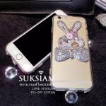 เคสสวยประดับเพชรและคริสตัลรูปกระต่าย case iPhone 6s Plus crystals