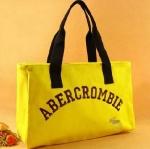 กระเป๋าถือ ผ้าแคนวาส Abercrombie กระเป๋าใส่เอกสาร ใส่ของกระจุกกระจิก สีชมพู เหลือง สีเขียว แบบเรียบ ๆ สีพื้น 430861