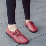รองเท้าหุ้มส้น ผู้หญิง รองเท้าหนังแท้ แฟชั่นมาใหม๋ ดีไซน์เท่ ๆ รองเท้าหนัง แบบหุ้มส้น ใส่ทำงาน เที่ยว เรียน สีพื้น 667946