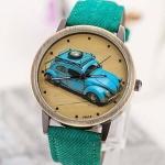 นาฬิกาข้อมือ วัยรุ่น หน้าปัด รถเต่า นาฬิกาข้อมือ ดีไซน์เก๋ เท่สุด ๆ สีเขียว no 999965_2
