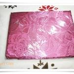 ผ้าแพร 6 ฟุต สีชมพูบานเย็นลายดอกกุหลาบใหญ่ P109