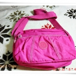 กระเป๋าสะพายข้าง Kipling ทรงพอง สีชมพูสด K404