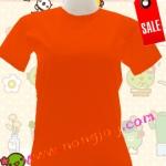 เสื้อเปล่าสีส้ม คอกลม Size L