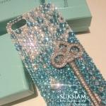 เคสคริสตัลสวยสะท้านฟ้าสดใสแต่เว่อร์วังที่สุด iPhone 6s Samsung galaxy Note 5, S6 edge case Handmade crystals. ID: A308