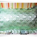 ปลอกหมอน ผ้าซาติน สีเขียวอ่อน S002