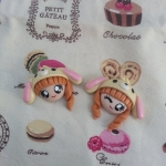 หัวตุ๊กตาใส่หมวก Sugarbunny สีเหลือง
