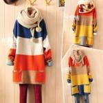 Sweater เสื้อกันหนาวไหมพรม เนื้อดี สีสดใส สำหรับหนาวนี้ พร้อมส่งเลยจ้า