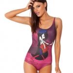 ชุดว่ายน้ำผู้หญิง ชุดว่ายน้ำเด็กผู้หญิง วันพีช ทรง วีคัท ลายการ์ตูน ผู้หญิง ดีดกีตาร์ สีม่วงอมชมพู ชุดว่ายน้ำน่ารัก ราคาถูก 392360_6