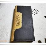 กระเป๋าสตางค์ levis สีดำแถบเหลือง ใบยาว L003