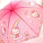 ร่มพับ ร่มกันแดดกันฝน Kitty สีชมพูหวาน ๆ K001