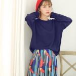 Sweater เสื้อสเวทเตอร์แขนยาว สีกรมท่า ทรงสวย จะใส่เดี่ยวไหรือใส่โค้ทคลุมก็เริ่ด