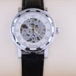 นาฬิกา Automatic นาฬิกาข้อมือสายหนัง แบบโชว์กลไก ไม่ต้องใส่ถ่าน หน้าปัด ฉลุลาย สีขาว นาฬิกาข้อมือผู้หญิง ผู้ชาย ใส่ได้ no 39441_4