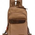 กระเป๋าเป้ กระเป๋าสะพายหลัง Backpack ผ้าแคนวาส ดีไซน์ ผสมหนังแท้ คลาสสิค มี 3 สี เขียว น้ำตาล กากี กระเป๋าสะพาย ใส่ของไปเที่ยว ไปเรียน 934654