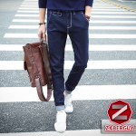 กางเกงยีนส์ผู้ชาย   ยีนส์แฟชั่นขายาว ทรงกระบอก แฟชั่นเกาหลี