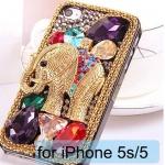 เคส iPhone 5s 5 5g 4s 4 4g เคส 3D ติด คริสตัล Rhinestone เพชรเม็ดใหญ่ หลายสี ลาย ช้างทอง เคส DIY เคสยอดฮิต เพิ่มความหรู ให้โทรศัพท์ 739037_1