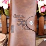 กระเป๋าสตางค์หนังแท้ ใบยาว กระเป๋าสตางค์ผู้ชาย ผู้หญิง ใช้ได้ สไตล์คาวบอย 501 สีน้ำตาล ลายหนัง ใส่บัตรได้เยอะ no 93486_1