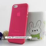 ซื้อ 1 แถม 1 Case ใส่ Iphone 5 5s แบบใส สีแดง