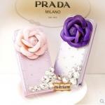 PRADA Case iPhone 5s/5 ไอโฟนเคส ดอกไม้ สีม่วง ปราด้า ID: A208