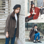 เสื้อคลุมสไตล์เกาหลี ทรงโคล่ง แนวๆ ผ้าเนื้อด้าน เหมาะใส่คลุมวันสบายๆ
