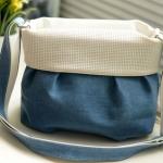 กระเป๋าสะพายข้าง ผู้หญิง ขนาดกลาง สียีนส์ ฟ้า แต่งพู่สีขาว กระเป๋าสะพายข้างหวาน ๆ น่ารักสุดๆ ใส่กระเป๋าสตางค์ โทรศัทพ์มือถือ ได้ สบาย ๆ 819933