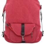 กระเป๋าเป้ กระเป๋าสะพายหลัง 2 สไตล์ กระเป๋าสะพายหลัง และ กระเป๋าสะพายข้าง ผ้า canvas อย่างดี สไตล์ เกาหลี สีชมพู สด no 3306632_4