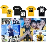 T-SHIRT WOLF88 yellow and black