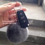 ปอมขนกระต่ายห้อยกระเป๋าสุดน่ารัก พวงกุญแจรถยนต์คันหรู Pom Pom keyrings