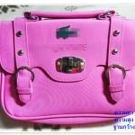 กระเป๋าถือ กระเป๋าสะพาย หนัง PU สีชมพู ทรงสี่เหลี่ยม กระเป๋าสะพายข้างผู้หญิง แบบวัยรุ่น ขนาดกลาง สวยเท่ มีสไตล์ bb001