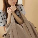 กระเป๋าใส่เสื้อผ้า กระเป๋าเดินทาง หนัง กระเป๋าใส่ของเที่ยว สีชมพูอ่อน เบจ ราคาถูก no 94684_4
