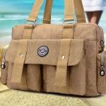 กระเป๋าสะพายข้างผู้หญิง แบบ สปอร์ต กระเป๋าผ้าไนลอน กันน้ำ ใบใหญ่ กระเป๋าใส่เสื้อผ้าเที่ยว วัยรุ่น 612287