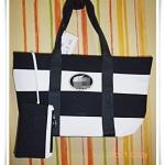 กระเป๋าถือ กระเป๋าสะพาย Lc สีดำสลับขาว