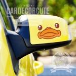 BDUCK - สติกเกอร์ตกแต่งรถยนต์ลายเป็ดบีดั๊ก ติดกระจกมองข้าง