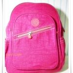 กระเป๋า notebook สะพายหลัง สีชมพูสด KP005