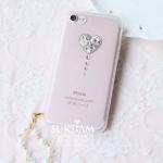 iPhone 8 ไอโฟน 8 พลัส เคสสวยมาแล้วเตรียมซื้อได้เลย กรอบไอโฟน 8 ใสรูปหัวใจประดับเพชร