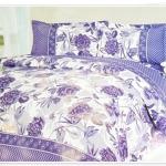 ชุดผ้าปูที่นอน 6 ฟุต 3 ชิ้น โทนสีม่วง ลายดอกไม้ แบบผู้ใหญ่ ผ้าปูที่นอน ลายดอกไม้ หวาน ๆ ผ้าปูที่นอน ลดราคา สวยหรู P001