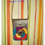 กระเป๋าใส่โทรศัพท์ มือถือ เศษสตางค์ สีทอง สุดหรู หนัง pu กันน้ำ ประดับลายดอกไม้ด้านหน้า หมดปัญหาเรื่องการลืมโทรศัพท์อีกต่อไป te004