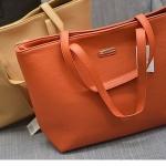 กระเป๋าถือผู้หญิง ใบใหญ่ ใส่นิตรสารได้ กระเป๋าถือ MANGO หนัง Pu กันน้ำได้ สีบาดตา บาดใจ ฟ้า ดำ เขียว ชมพู น้ำตาล 48625