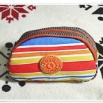 กระเป๋าใส่เครื่องสำอางค์ โทนสีส้ม ครึ่งวงกลม KP909