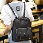 กระเป๋าเป้ หนังสีดำ ทรงสวย อยู่ทรงไม่ย้วย พร้อมส่ง