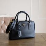 a8b5336a602c Prada Black Saffiano Lux Tote Size 25 /2 Zippers BN2316