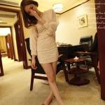 พร้อมส่ง - Chiffon lace dress หวานๆ ผ้าอย่างดีทิ้งตัว ซิบหลัง มีภาพสินค้าจริง