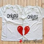 เสื้อยืดคู่รัก สกรีนลาย Only you