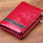 กระเป๋าสตางค์ผู้หญิง ใบสั้น กระเป๋าสตางค์ หนังแท้ หนังวัว ลง Oil wax รุ่นซิปคู่ ใส่บัตร ใส่เงิน ใส่เหรียญ ได้จุใจ สีชมพู ดอกกุหลาบ หวาน ๆ 548786_4