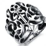 แหวนผู้ชาย แกะลาย ไม้กางแขน แหวน Stainless steel สีเงิน สวยหรู มีระดับ ดีไซน์ คล้าย กงเล็บ ของขวัญให้แฟน สุดหรู 827976