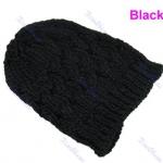 แฟชั่นหมวกไหมพรม งาน Hand Made สไตล์เกาหลี สีดำ